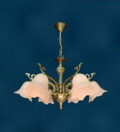 Латунная потолочная люстра