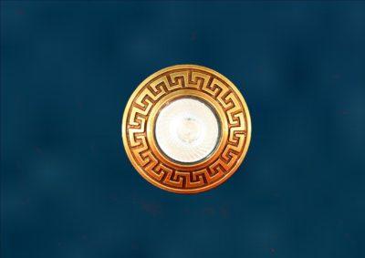 точечный светильник из латуни Райо-8
