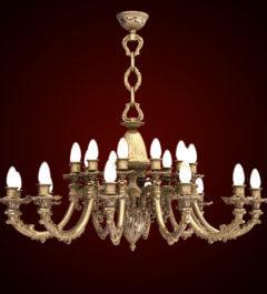Люстра со свечами Савона-24